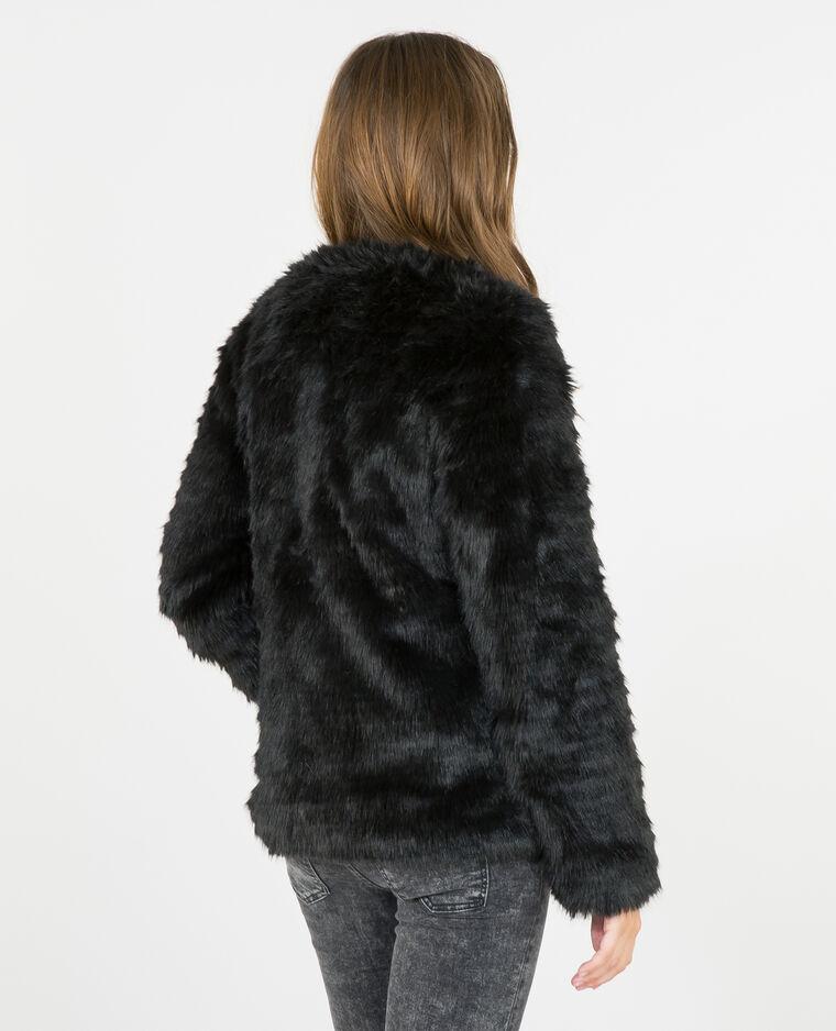 manteau fausse fourrure noir 281073899a08 pimkie. Black Bedroom Furniture Sets. Home Design Ideas