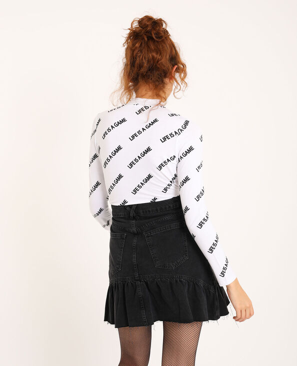 T-shirt manches longues blanc - Pimkie