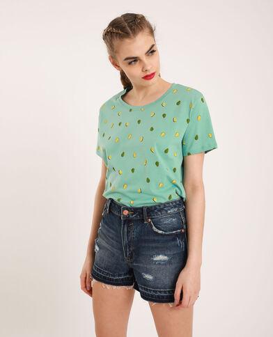 T-shirt graphique vert