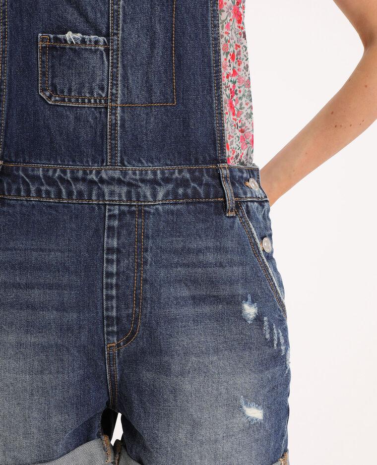 Salopette en jean bleu brut