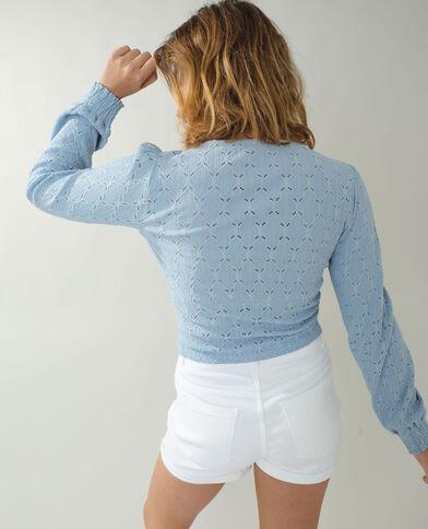 T-shirt ajouré bleu - Pimkie
