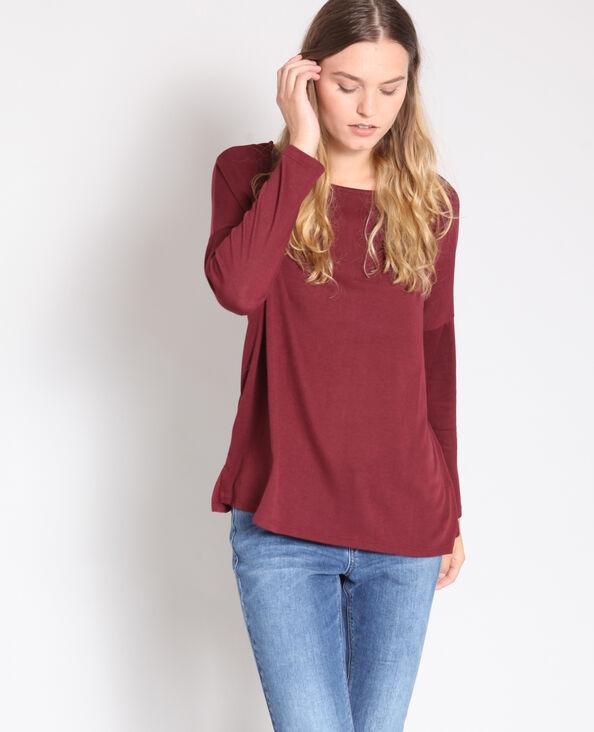 T-shirt à manches longues bordeaux 50d1fe7b71e4