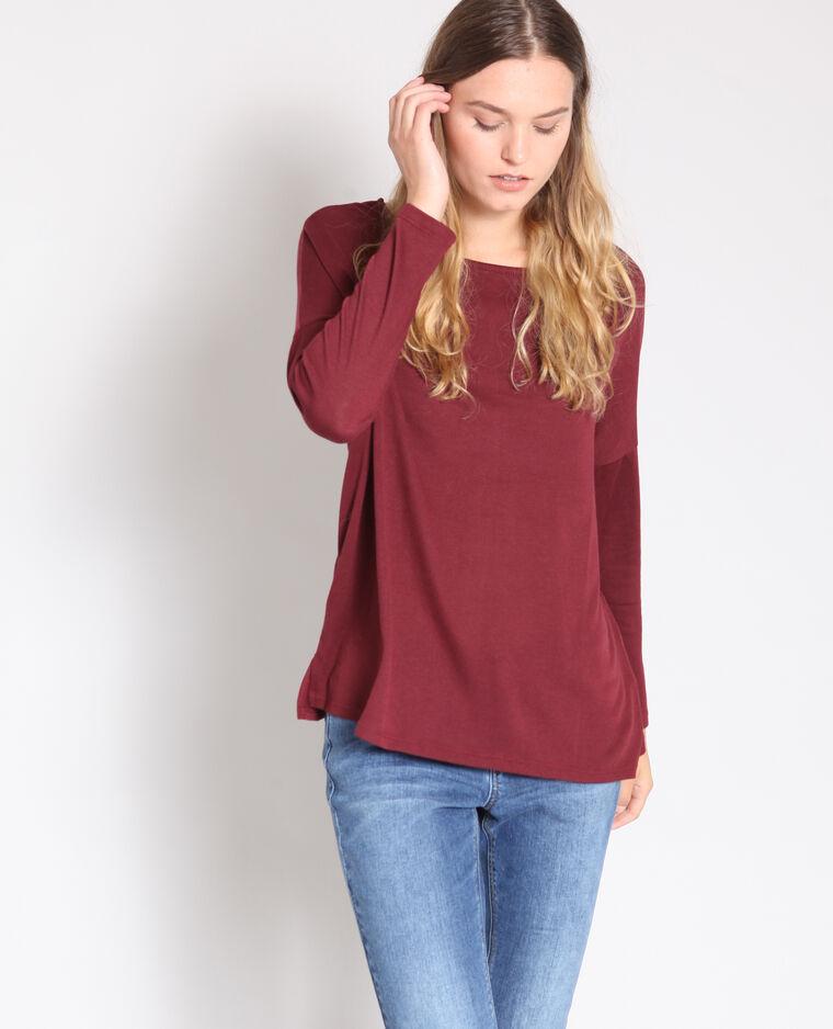 T-shirt à manches longues bordeaux