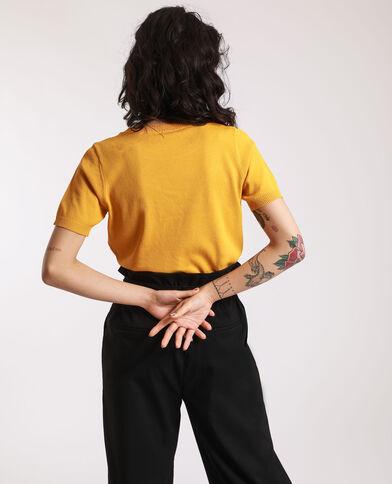 Pull court jaune - Pimkie