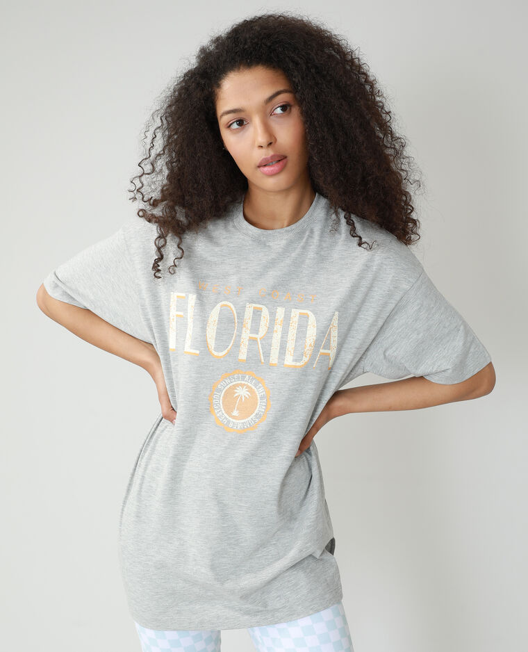 T-shirt oversize gris - Pimkie