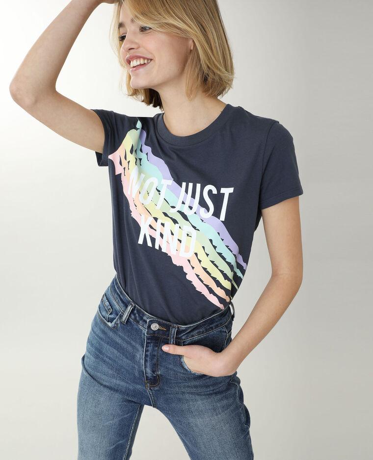 T-shirt à message gris - Pimkie