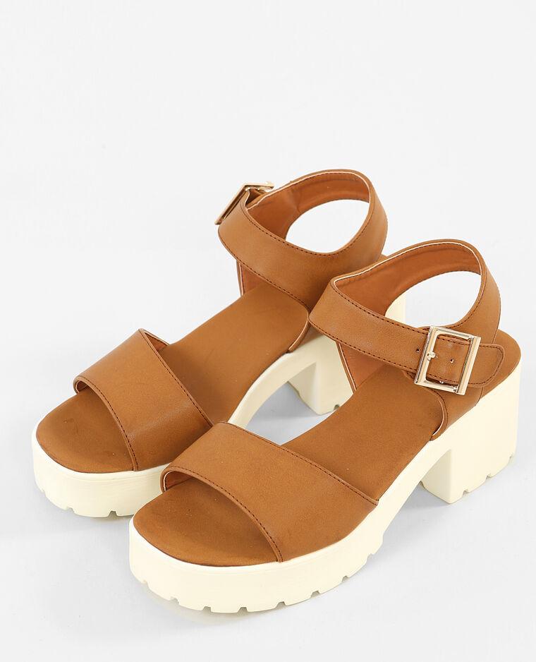 Sandales Avec Ceinture Marron Tela Sur Vous