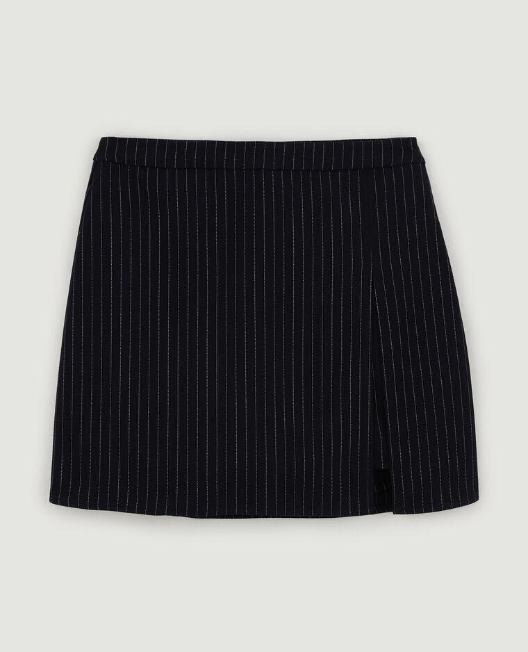 Jupe-short à lignes gris - Pimkie