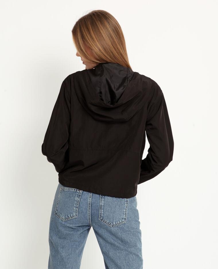 Coupe-vent à capuche noir