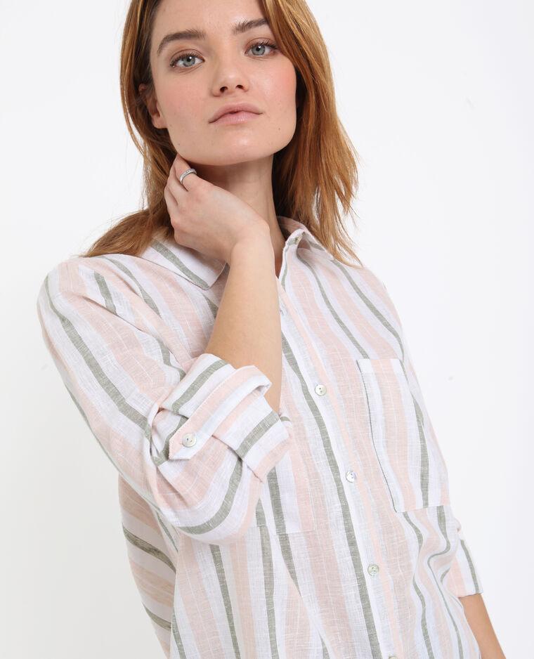 Chemise à rayures kaki - Pimkie