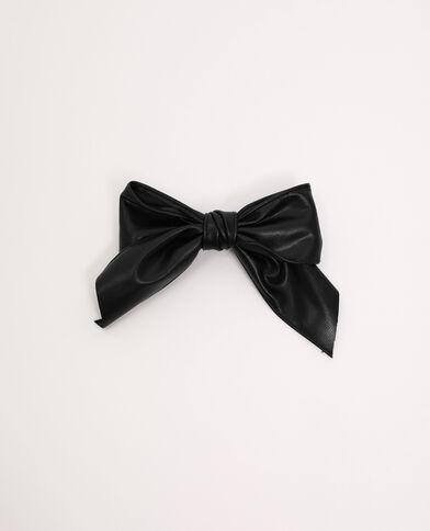 Pince nœud simili cuir noir - Pimkie