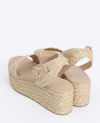 Sandales à plateforme beige ficelle - Pimkie
