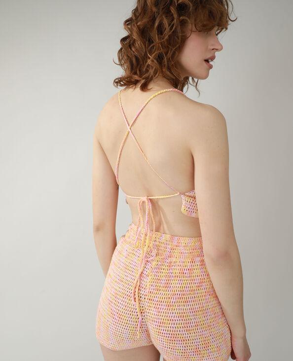 Top crochet rose - Pimkie