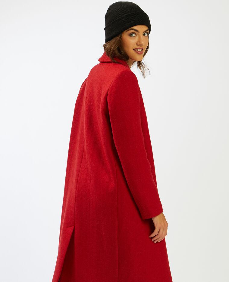 Manteau long avec 50% de laine rouille - Pimkie