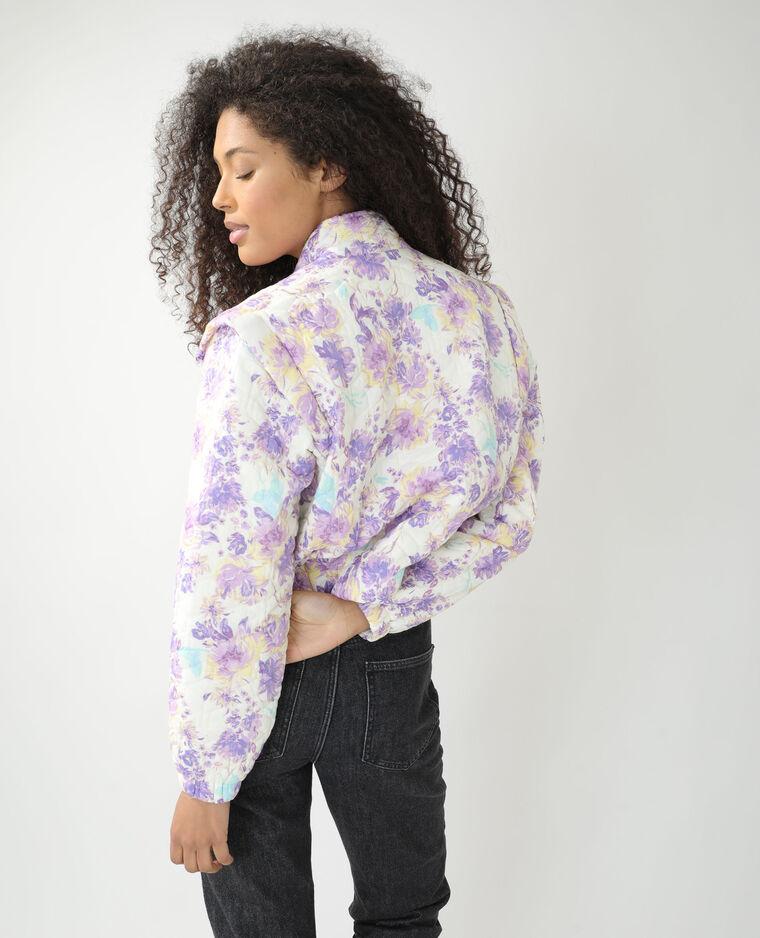 Veste matelassée fleurie blanc - Pimkie