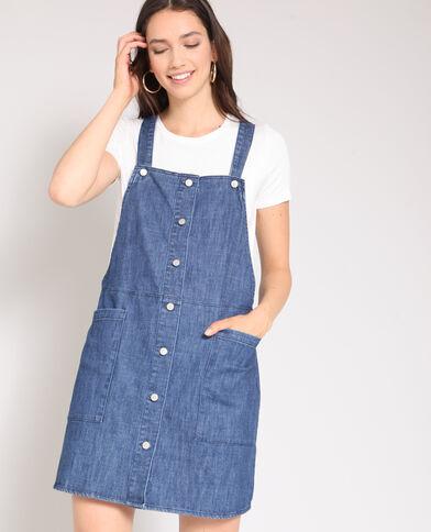 Robe courte en jean bleu