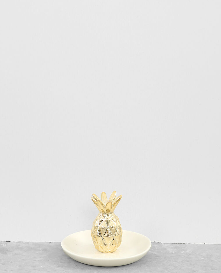 Petit vide-poches ananas Doré