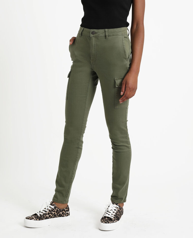 Pantalon skinny à poches vert - Pimkie
