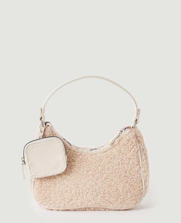 Sac porté épaule moumoute avec pochette blanc - Pimkie