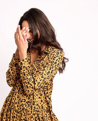 Robe léopard brun
