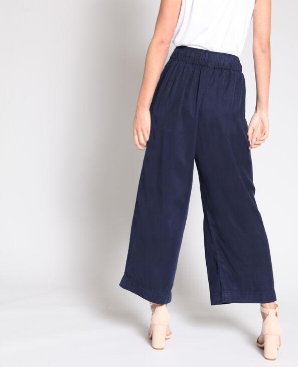 Pantalon large bleu