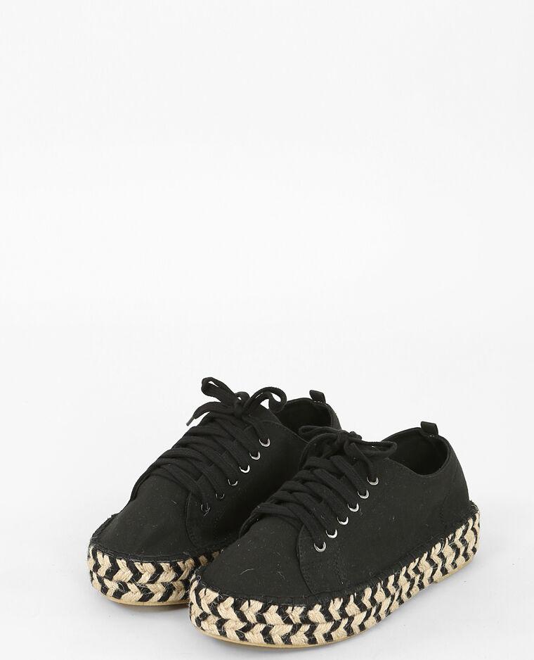 Espadrilles à lacets noir