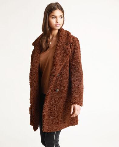 Manteau imitation mouton marron