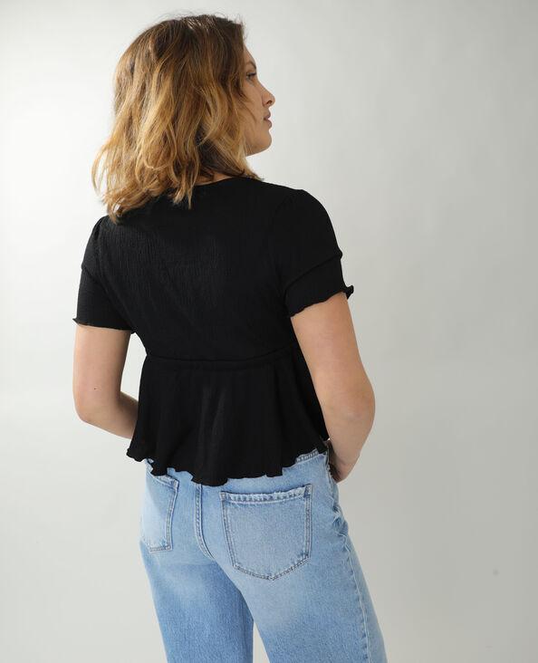 T-shirt volanté noir