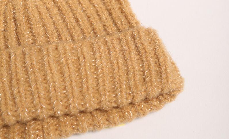 Bonnet à côtes beige