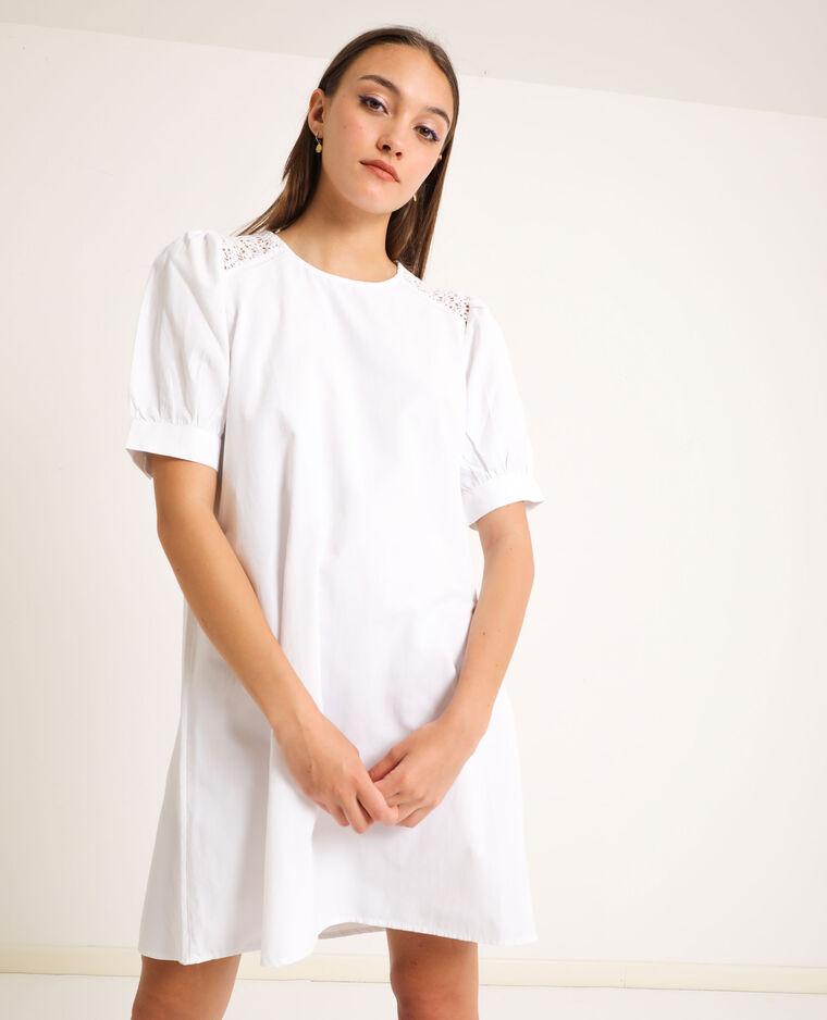 Robe à broderies blanc - Pimkie