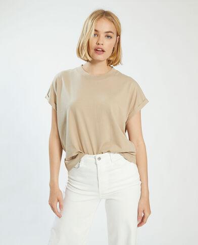 T-shirt oversize marron - Pimkie