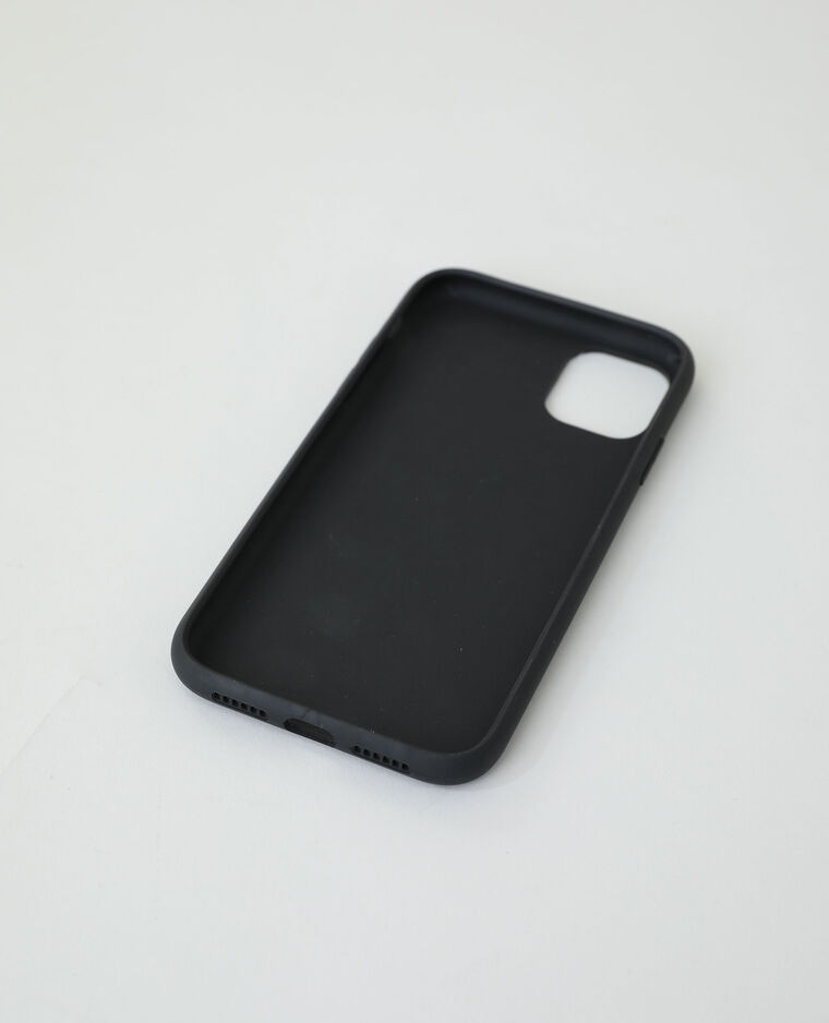 Coque compatible iPhone noir + jaune