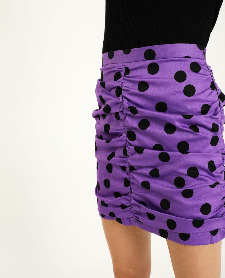 Jupe froncée violet - Pimkie