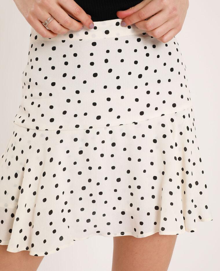 Jupe short à fleurs blanc