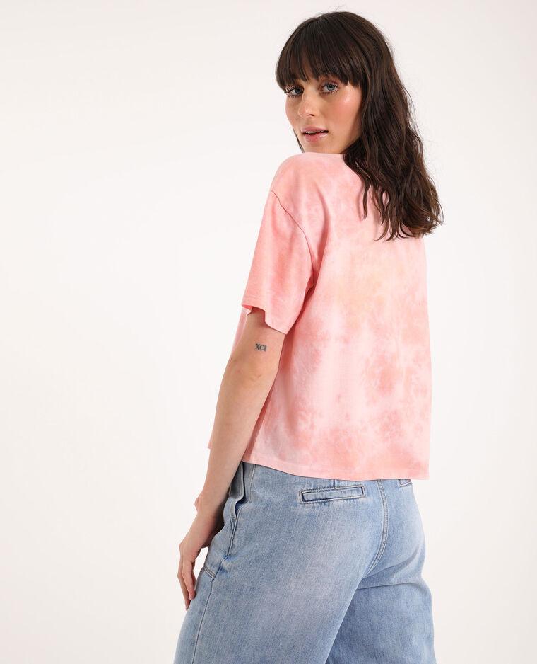T-shirt tie & dye rose