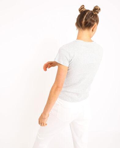 T-shirt basique gris chiné