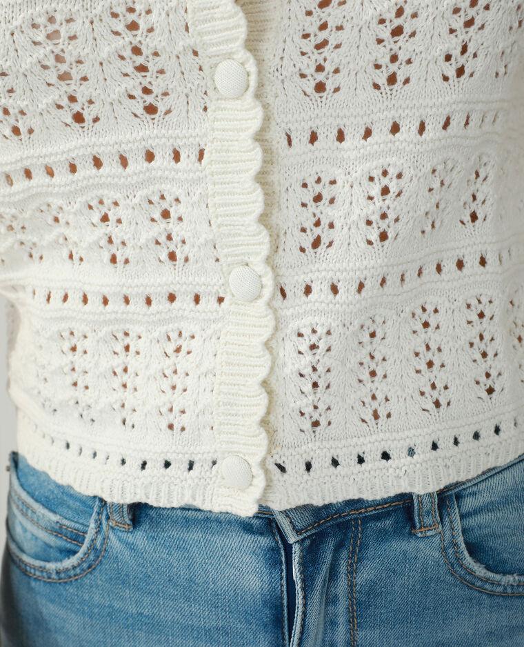 Gilet tricot blanc cassé - Pimkie
