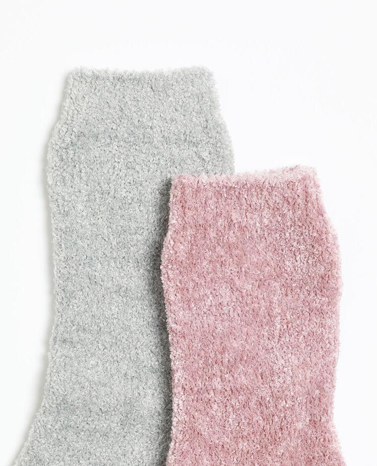 Chaussettes d'intérieur gris