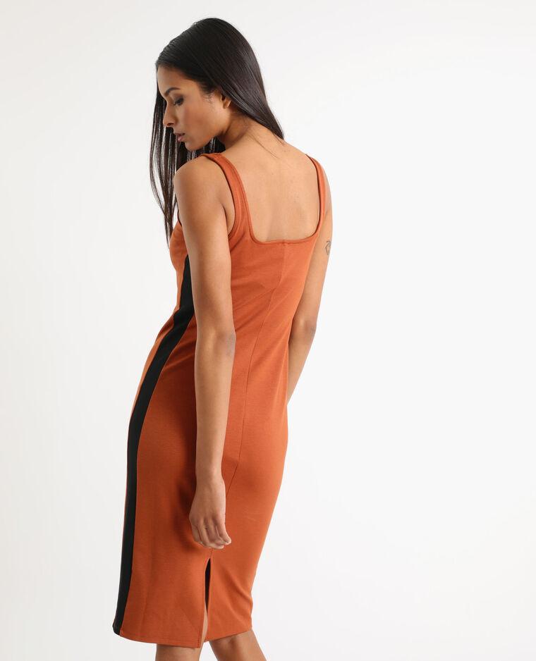 Robe moulante marron