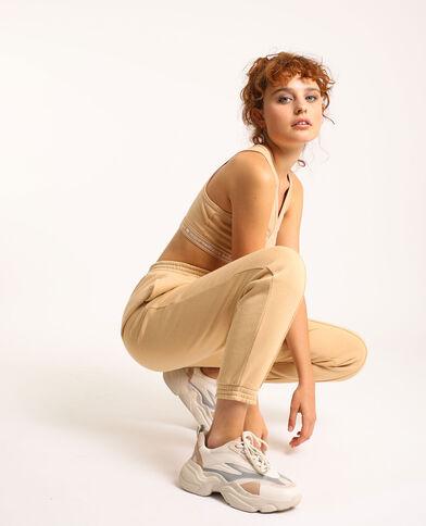 Pantalon molleton beige - Pimkie