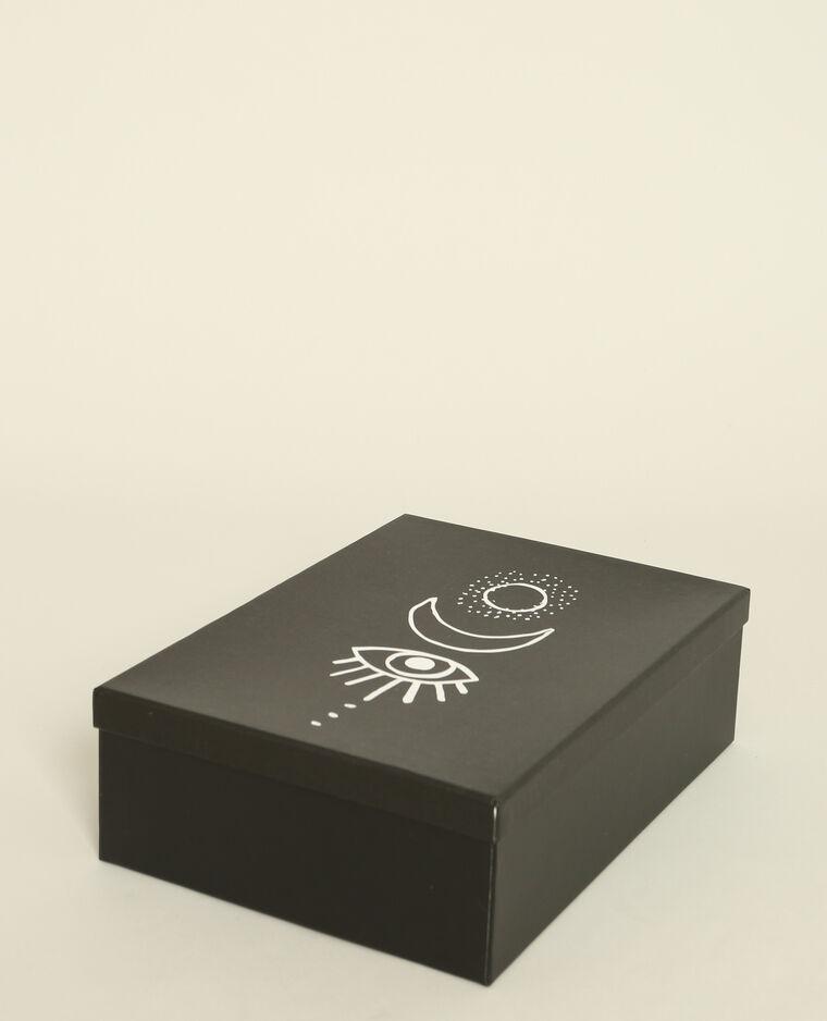 Lot de 3 boites imprimées noir