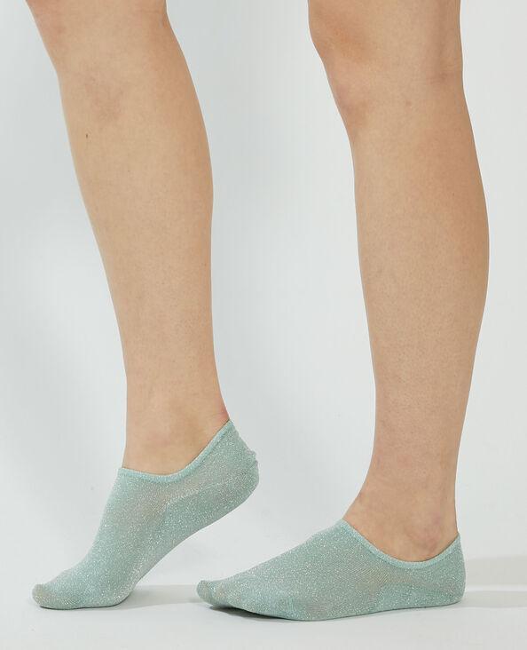 Lot de 2 paires de chaussettes invisibles pailletées vert - Pimkie