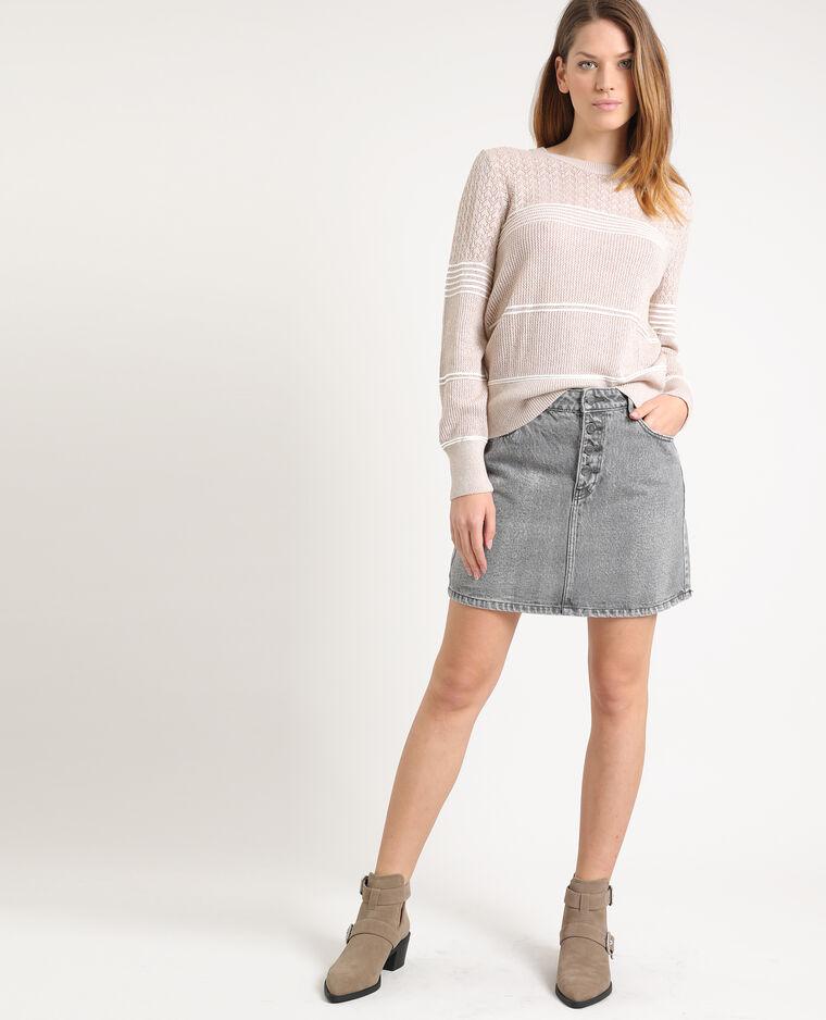 Jupe en jean gris foncé
