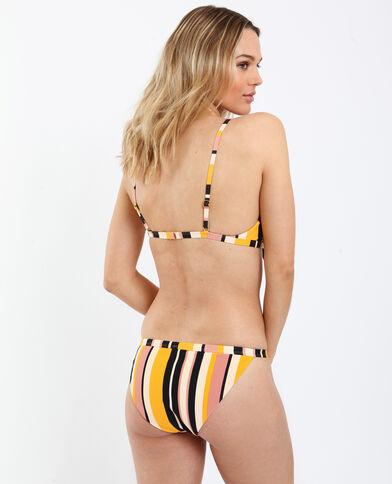 Haut de bikini rayé jaune