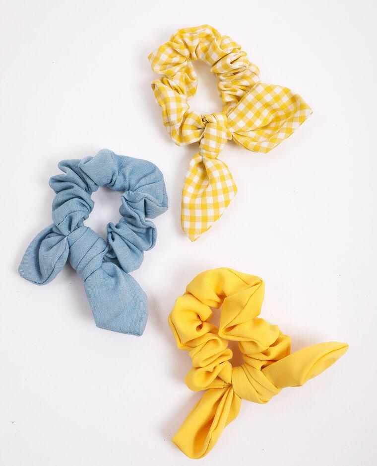 Lot de 3 chouchous jaune