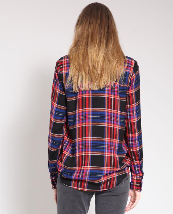 Chemise à carreaux noir