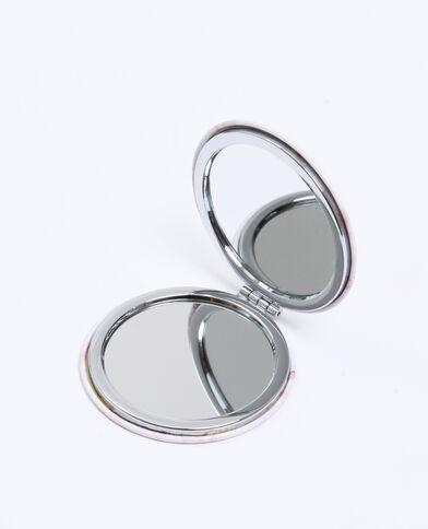 Double miroir de poche beige