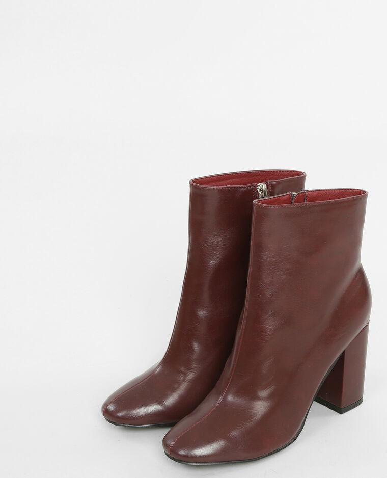Boots à talons grenat