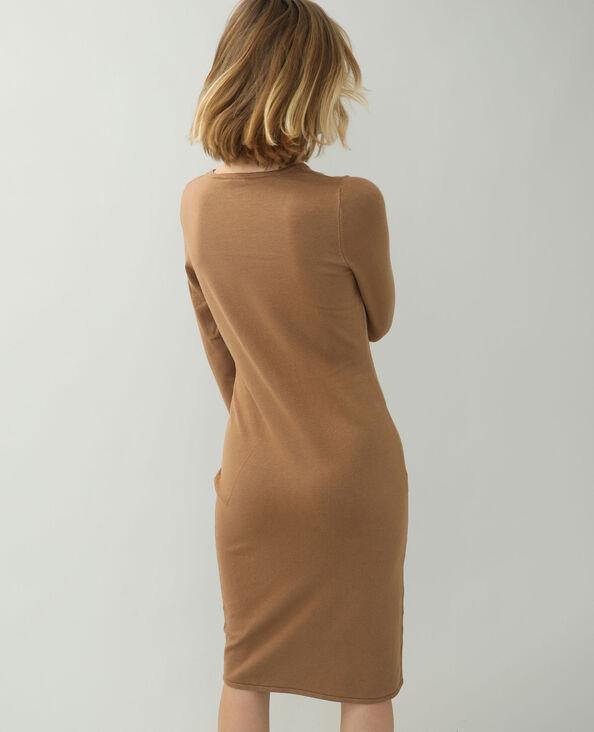 Robe pull marron