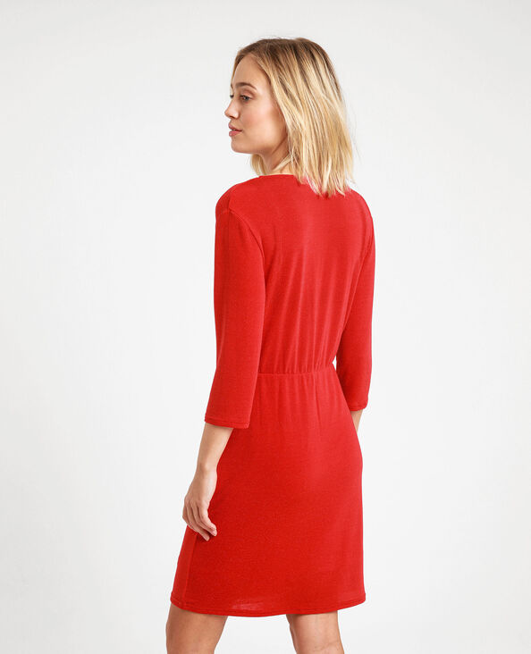 Robe à paillettes rouge